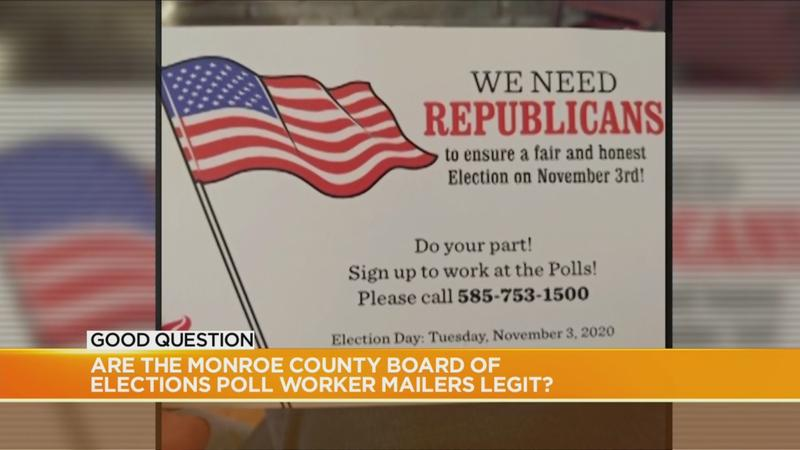 Good Question: Are the Monroe County Board of Elections poll worker mailers legit?