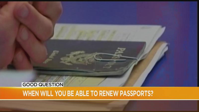 Good Question: When will we be able to renew our passport?