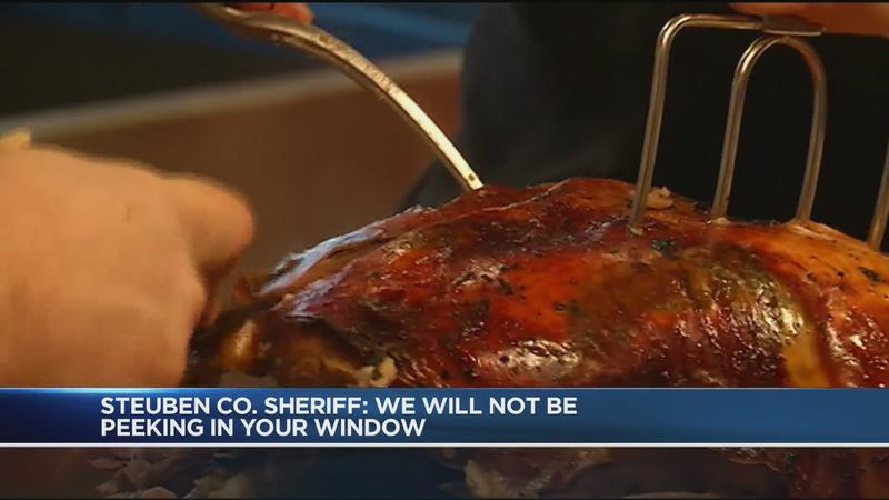 Steuben County Sheriff's Office on enforcement of Thanksgiving guidelines