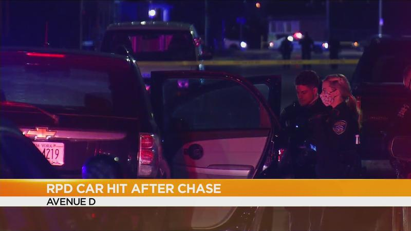 Suspect in custody after police chase ends in Rochester