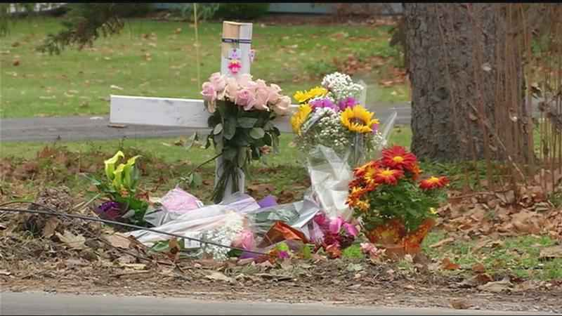 File image from Nov. 29, 2019 shows a memorial set up at the crash site on Edgewood Avenue.