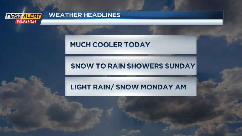 First Alert Weather: Some wet snow Sunday