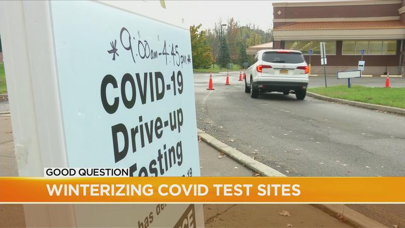 Good Question: Follow up on 'winterizing' COVID-19 test sites