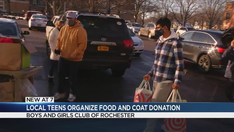 Rochester teen collects donations for Boys and Girls Club