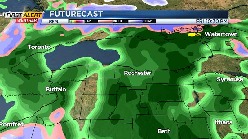 First Alert Weather: Front brings rain on Friday; chilly for The Bills