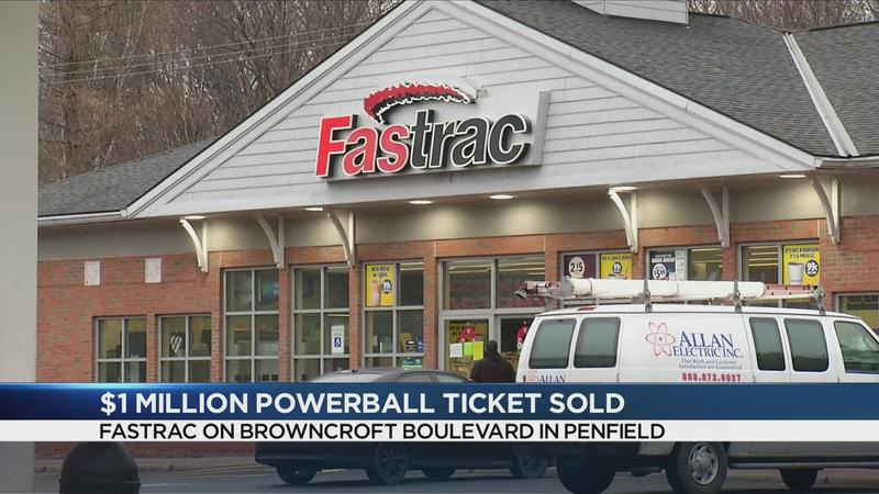 $1M winning Powerball ticket sold in Penfield
