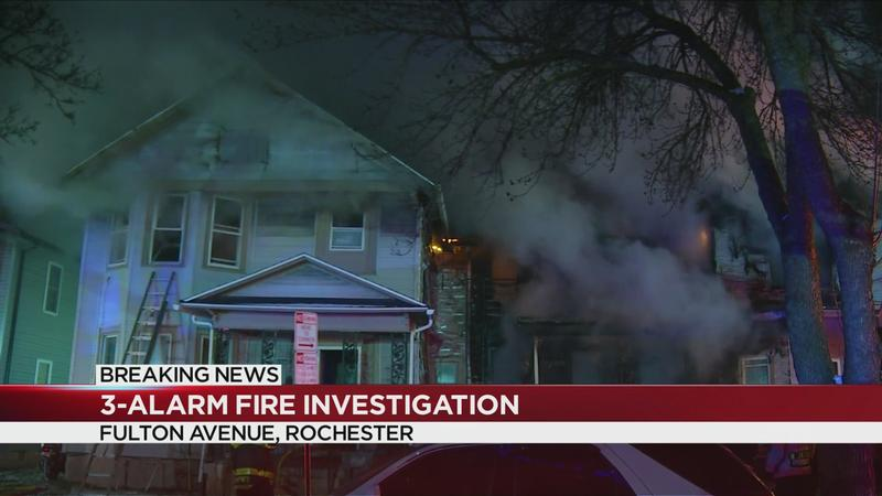 16 people escape three-alarm fire, 3 firefighters hurt in Rochester
