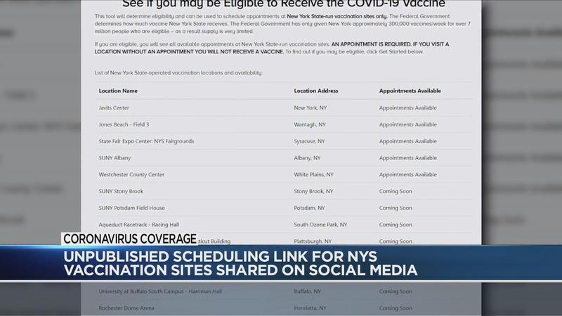 NYS warns unauthorized link may have caused vaccine appointment issues