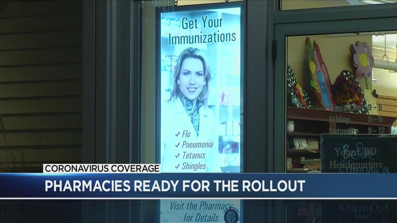 Pharmacies that opted into vaccine rollout preparing to give the shots
