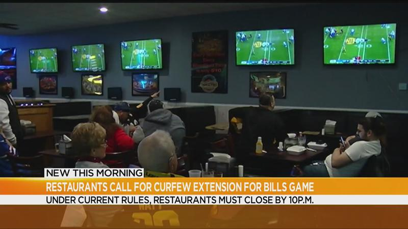 Some restaurant owners call for curfew extension for Bills divisional round game