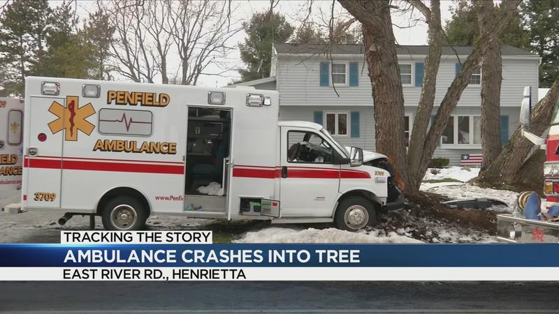 1 seriously injured in ambulance crash in Henrietta