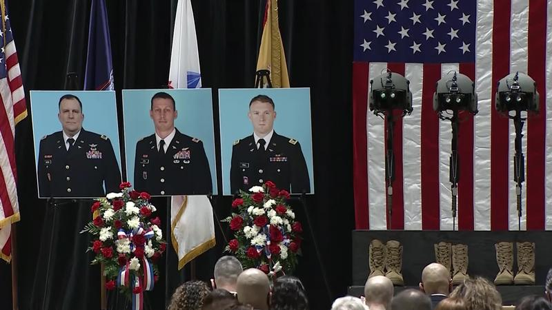 Memorial service held for 3 soldiers killed in Mendon helicopter crash