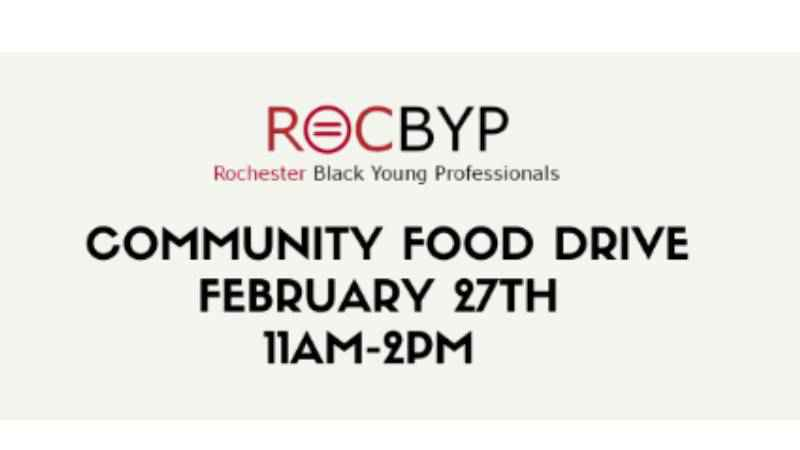 Rochester Black Young Professionals holding community food drive Saturday