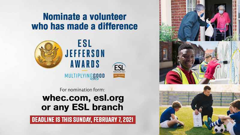 Last chance to nominate outstanding volunteers for ESL Jefferson Awards