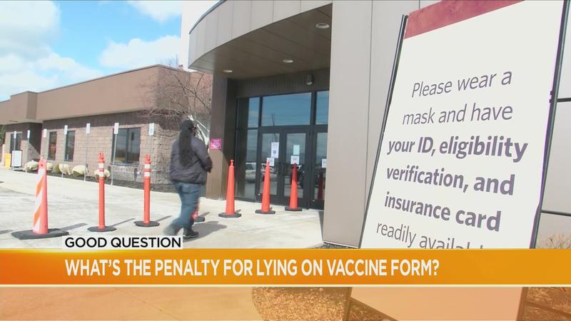 Good Question: What's the penalty for lying on a vaccine form?