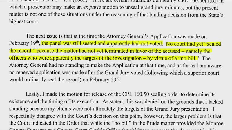 Lawyer letter: AG requested Prude grand jury to be unsealed 4 days before the jurors decided