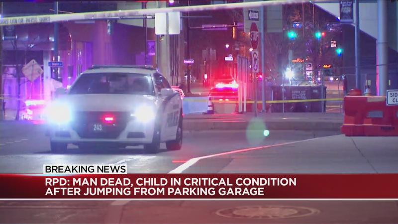 Police: Man dead, child still in critical condition after jumping from parking garage