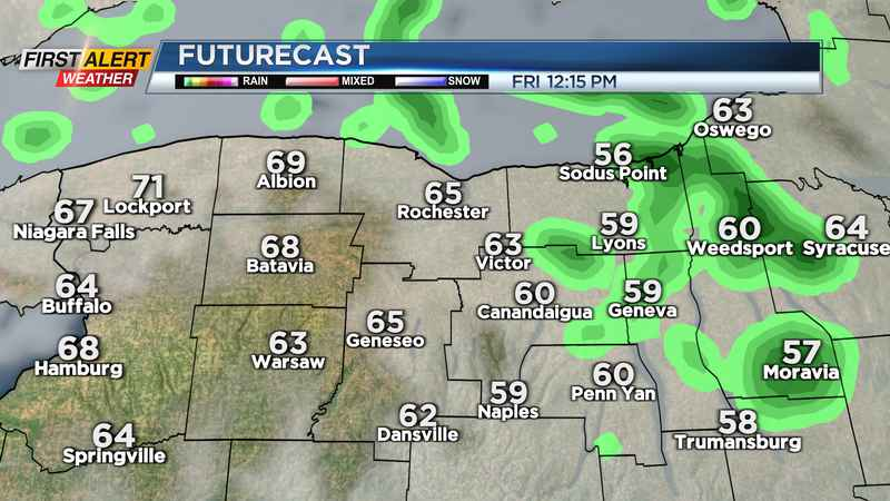 First Alert Weather: Brief showers Friday, remaining mild