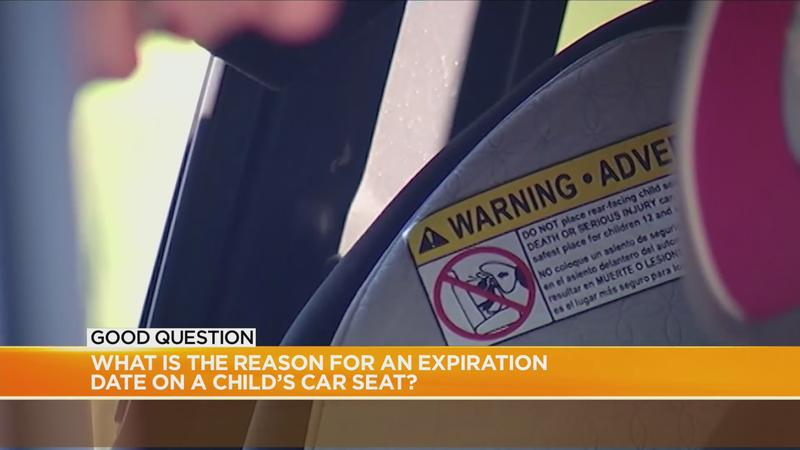 Good Question: What is the reason for an expiration date on a child's car seat?