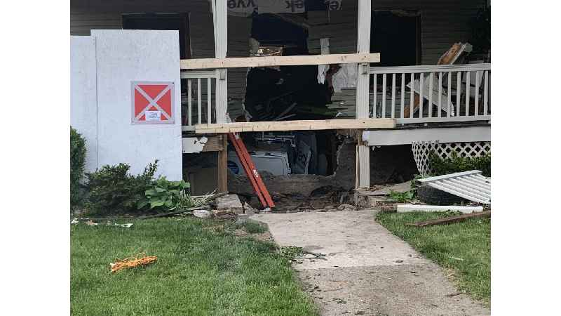 Service van crashes into Palmyra home, comes to rest in basement (photo)