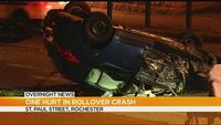 At least 1 hurt after Rochester rollover crash