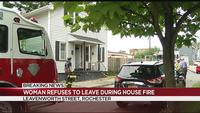 Fire crews battle Leavenworth Street fire