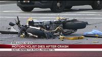 Motorcyclist dies in Henrietta crash