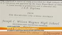 Good Question: Are graduation certificates worthless?