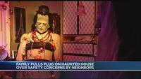Halloween display in the grave following complaints by neighbors