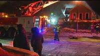 Space heater ignites flammables causing house fire