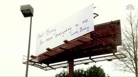 Love letters displayed across multiple billboards
