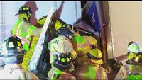 At a frigid crash on I-90, firefighters use industrial heater to help save driver's life