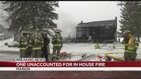 Fire officials: Marion home total loss after being engulfed in flames