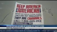 Rochester man accused of posting racist flyers in Boston faces judge