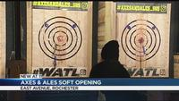 Axes and Ales holds soft opening