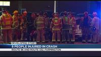 Troopers: 8 people injured, 1 seriously, in Farmington crash