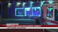 Officer assaulted during arrest on Lake Avenue