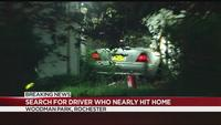 Police search for driver who nearly hit home on Woodman Park