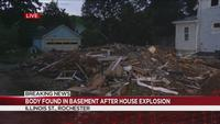 Body found after house explosion on Illinois Street