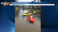Geneva or Venice? One family takes advantage of flooding