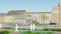 Artist rendering of George Eastman Museum's new visitor center