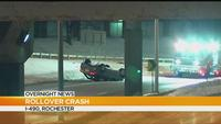 State troopers investigate rollover crash on I-490