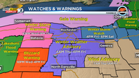 Blizzard Warnings, Winter Storm Warnings and strong wind Thursday