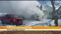 Crews investigate house fire in Steuben County