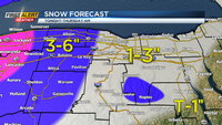 First Alert Weather Snapshot: Wintry weather tomorrow