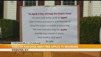 Webster man gives out free apples to neighbors during coronavirus pandemic
