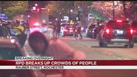 RPD breaks up crowds overnight