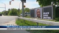 News Dellarious piece depicts George Floyd