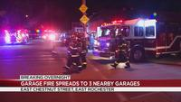 Crews: Fire spreads to 3 other garages