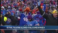 Current Phase Four guidelines prohibit fans, tailgating at Bills games